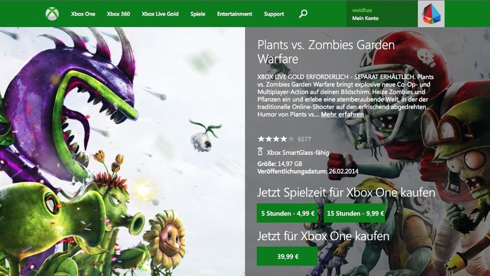 Games as a Service - Plants vs Zombies GW.