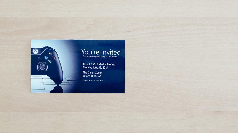 E3 2015 Wunschkonzert – Xbox Edition - Media Briefing Invite