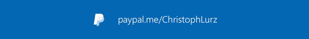 Unterstützung mittels PayPal.me/ChristophLurz
